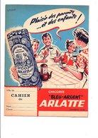 """PROTEGE-CAHIER CHICOREE """"BLEU ARGENT"""" ARLATTE CAMBRAI - DESSIN DE ROREBOUR - Protège-cahiers"""