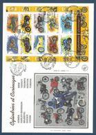 France FDC - Premier Jour - YT Bloc N° 51 - Grand Format - Motos - 2002 - FDC