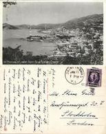 St. Thomas, V.I., Town Seen From Blue Beards Castle (1937) Postcard - Virgin Islands, US