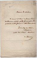 VP14.828 - Musique - LAS - Lettre Autographe Mr A. De LANOUE - Autographes