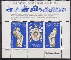 Falkland Islands 1978 Coronation 3v From M/s ** Mnh (42489A) - Falklandeilanden