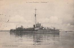 Bateaux De Guerre : PERTUISANE : Contre-torpilleur ( Au Dos Cachet Militaire Marine ) - Guerre