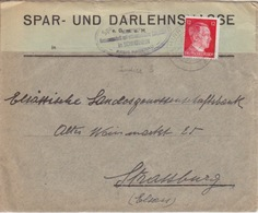 P Lettre à Entête (S.u.D. Schirrhein) Obl Schirrhein (T325 Schirrhein A) Sur TP Reich 12pf=1°éch Le 23/12/43 - Marcophilie (Lettres)