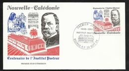 N.C.   Lettre Premier Jour Nouméa Le 28/09/1988 N° 563  Centenaire De L'Institut Louis Pasteur    TB   ! ! ! - Louis Pasteur