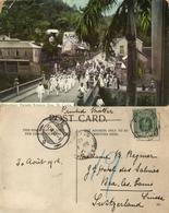 St. Lucia, B.W.I., Volunteer Parade Empire Day (1912) Postcard - Sainte-Lucie