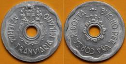 GETTONE AZIENDA TRANVIARIA DI MILANO BUONO PER UNA CORSA RIDOTTA 1944 - Monétaires/De Nécessité