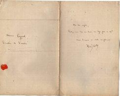 VP14.829 - PARIS - LAS - Lettre Autographe Mr Edmond DESNOYERS De BIEVILLE ( Journaliste & Dramaturge ) à Mr COGNIARD - Autographes