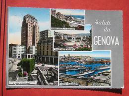 """Genova - Mehrbildkarte """"Saluti Da Genova"""" / Grattacielo Dell'Orologio - Genova (Genoa)"""