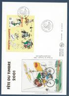 France FDC - Premier Jour - YT Bloc N° 34 - Grand Format - Gaston Lagaffe - 2001 - FDC