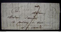 Gers: Cursive 31/ Masseube / MIRANDE + Dateur Sur LAC De 1830 (ind.24) - Marcophilie (Lettres)
