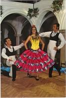 CARTE BRODEE: Danseurs Espagnols - Embroidered