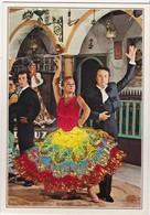 CARTE BRODEE: Danseurs Espagnols Ferias - Embroidered