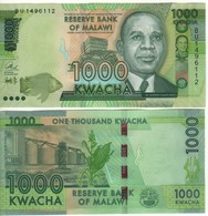 MALAWI  New Date 1'000 Kwacha   Dated 1st Jan. 2017  UNC  (P67 C) - Malawi