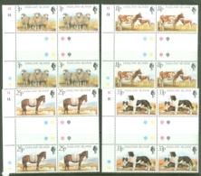 Falkland Is: 1981   Farm Animals   MNH Gutter Blocks Of 4 - Falkland Islands