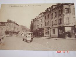 C.P.A.- Bolbec (76) - Rue Fauquet Lemaître - Pharmacie Centrale - Marchand Ambulant Glaces - 1912 - SUP (BF80) - Bolbec