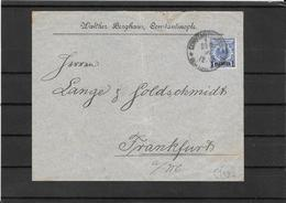 German Levant 1899 ,cover From Constantinople To Frankfurt  (ref 3212 ) - Other