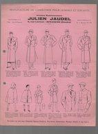 Basançon (25 Doibs) Document Illustré  JULIEN JAUDEL  (confection Homme Et Enfants) Avril 1938 (PPP10606) - Advertising