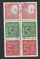 Schweden, 1966, Michel-Nr. 429+497+551, H-Blatt 37, Gestempelt - Usati