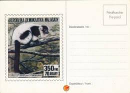 MADAGASCAR - 1992 -Entier Postal Neuf  - Lémurien - Madagascar (1960-...)