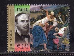 ITALIA REPUBBLICA ITALY REPUBLIC 2011 I PROTAGONISTI DELL'UNITA' D'ITALIA CARLO PISACANE USATO USED OBLITERE' - 6. 1946-.. Repubblica