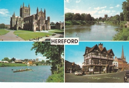 England Herefordshire Hereford Various Views Postcard Hereford 1978 Postmark Used Good Condition - Herefordshire