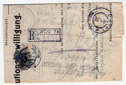Poland Ukraine Registered Lwow Zamarstynow Postage Due - 1919-1939 Republic