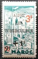 Marruecos: Año. 1946 - Protectorado Frances. Tipo De 1945 - Sobrecarga, Roja. - Maroc (1956-...)