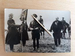 FAMILLE ROYALE - Photo De Presse LEOPOLD III - Discours Au Verso - Camp De Beverloo - Belgien