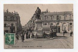 - CPA BORDEAUX (33) - La Statue De Tourny 1912 (belle Animation) - Photo Neurdein 133 - - Bordeaux