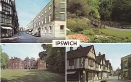 England Suffolk Ipswich Various Views Postcard Used Good Condition - Ipswich