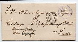 Poland Ukraine Railway Station Sichow 1910 - Lettres & Documents