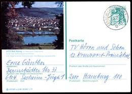 76306) BRD - P 124 E5/80 - OO Gestempelt 6104 - 6123 Bad König - Teilansicht - BRD