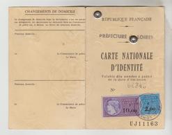 CARTE D'IDENTITE N° UJ 11163 Préf. Loiret DU 15/05/1974 AVEC 2 TIMBRES FISCAUX - Alte Papiere