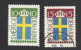 Schweden, 1955, Michel-Nr. 404-405, Gestempelt - Gebraucht