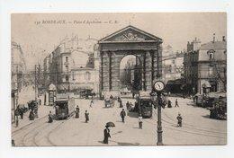 - CPA BORDEAUX (33) - Place D'Aquitaine 1911 (belle Animation) - Edition C. B. 130 - - Bordeaux