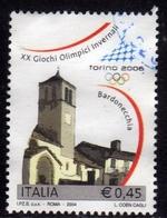 ITALIA REPUBBLICA ITALY 2004 GIOCHI OLIMPICI INVERNALI TORINO 2006  € 0,45 S. PIETRO APOSTOLO BARDONECCHIA USATO USED - 2001-10: Usati