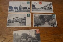 Carte Postale 1910 Lot De 5 Cartes De Guérigny - Guerigny