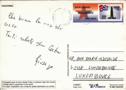 CUBA - Entier Postal Pour Le Luxembourg - Cocotier - Kuba