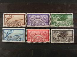 """ITALIA Colonie Tripolitania Aerea -1933- """"Crociera Zeppelin"""" Cpl. 6 Val. MH* (descrizione) - Tripolitania"""