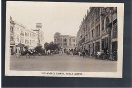 MALAYSIA  Kuala Lumpur Old Market Square Ca 1930 OLD PHOTO POSTCARD - Malaysia