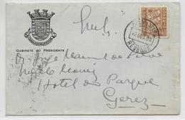 "PORTUGAL - 1939 - ENVELOPPE ILLUSTREE ""CABINETE DO PRESIDENTE - CAMARA MUNICIPAL DE REZENDE"" => GEREZ - Lettres & Documents"