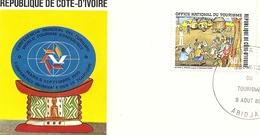 Enveloppe Republique De Cote D'ivoire Abidjan Office Nationale Du Tourisme 1980 Premier Jour - Côte D'Ivoire (1960-...)