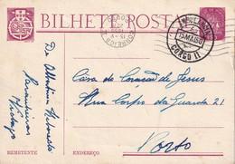 PORTUGAL 1950    ENTIER POSTAL/GANZSACHE/POSTAL STATIONERY CARTE AVEC CACHET AMBULANT - Postwaardestukken
