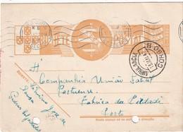 PORTUGAL 1947   ENTIER POSTAL/GANZSACHE/POSTAL STATIONERY CARTE AVEC CACHET AMBULANT - Postwaardestukken