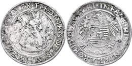 Taler, 1557, Ferdinand I., Joachimstal, Avers Stellenweise Leicht Berieben, Ss.  Ss - Oesterreich