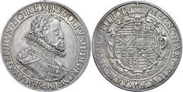 Doppeltaler, 1604, Rudolf II., Hall, Dav. 3004, Kl. Rf., Ss.  Ss - Oesterreich