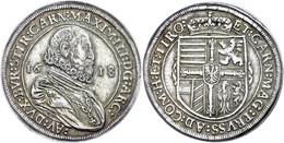 Taler, 1618, Maximilian III., Hall, Dav. 3321, Kl. Rf., Ss.  Ss - Oesterreich