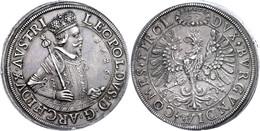 Doppeltaler, 1626, Leopold, Hall, Dav. 3336, Kl. Rf., Schöne Patina, F. Vz. - Oesterreich