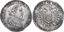 Taler, 1632, Ferdinand II., Kremnitz, Dav. 3129, Leichte Prägeschwäche, Vz.  Vz - Oesterreich
