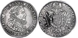 Taler, 1632, Ferdinand II., Kremnitz, Dav. 3129, Ss+. - Oesterreich